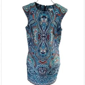 Liz Claborne paisley dress with short sleeves